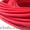 Провод в текстильной (тканевой) оплетке красного цвета #1109006