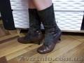Продам женские зимние полусапожки на низком каблуке б/у