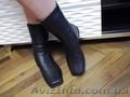 Продам зимние кожаные полусапоги без каблука б/у,  Днепропетровской обуви