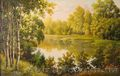 "Картину ""пейзаж"" с доставкой холст 55 х 85 см картина, Объявление #943243"