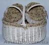 Корзина плетеная из лозы,  набор 3шт 48*38*38см