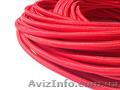 Провод в текстильной (тканевой) оплетке красного цвета