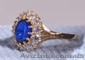 Женский перстень шпинель и циркон