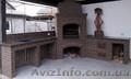 .Барбекю мангал печь камин из кирпича. Установка каминных топок... - Изображение #2, Объявление #1606944