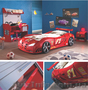 Детская кровать-машина пластиковая с Турции